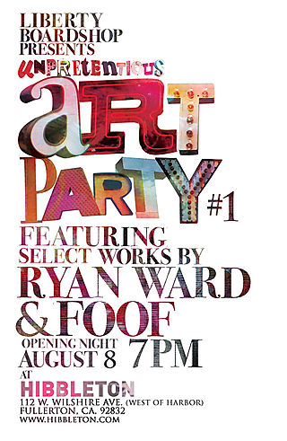 Unpretentious Art Party Promo card