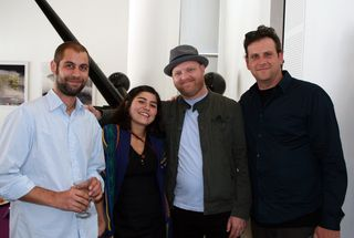 Artists Andy Kolar, Carlee Fernandez, with Brian Boyer and Ed Giardina of Finishing School