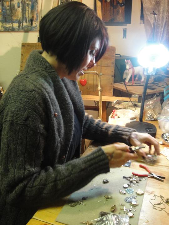 Christina sanchez studio visit 112410