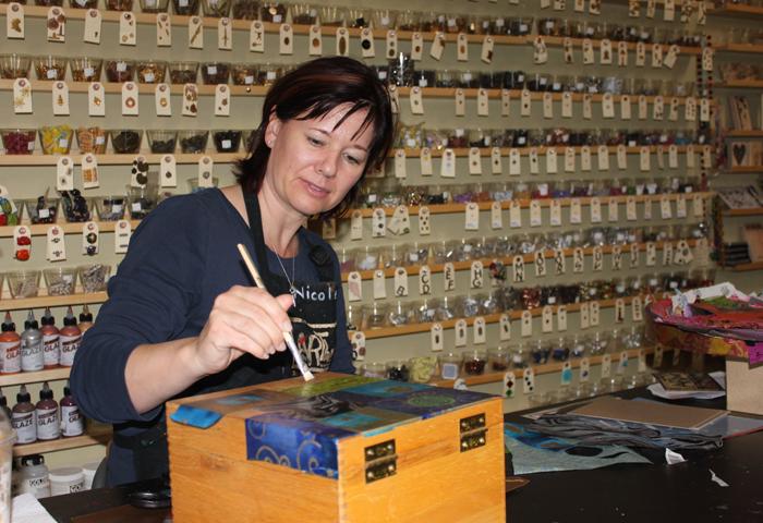 Owner of Art bar Nichole Steiman