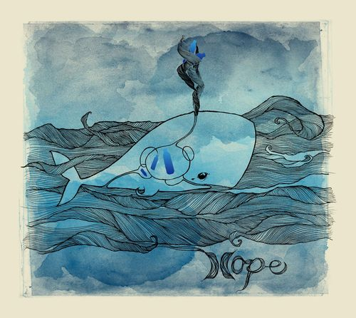 HOPE WHALE art to size